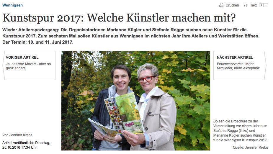Kunstspur Wennigsen 2017
